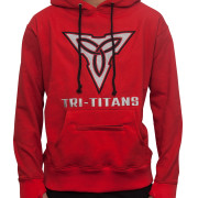 Tri-Titans Wrestling Hoodie Red Black Mind Body Spirit
