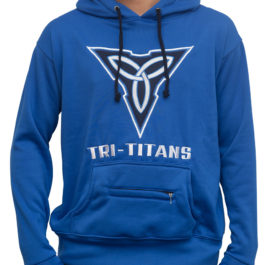 Tri-Titans Wrestling Hoodie Blue Mind Body Spirit