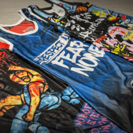 Tri-Titans Wrestling Singlets - Graffiti, Indomitable Spirit, and Dragon