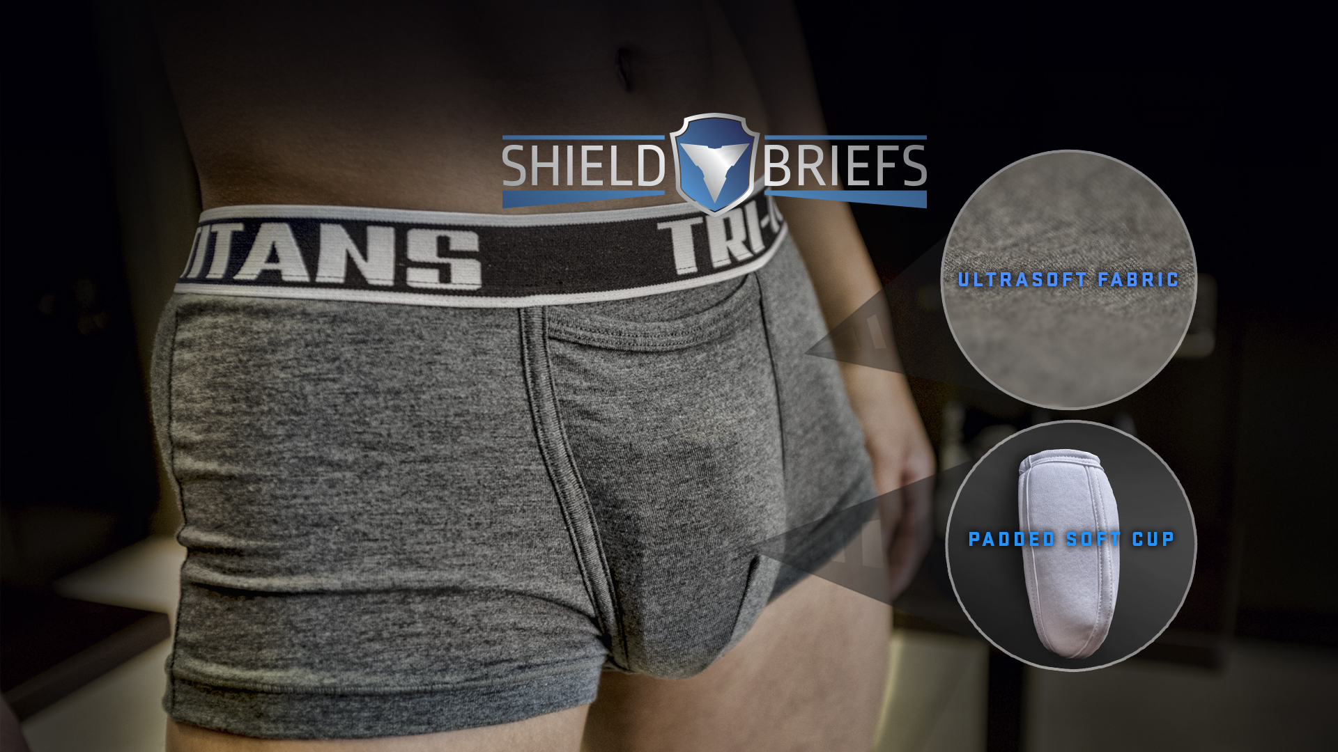 Comfortable material, Compressed fit, Cup Underwear